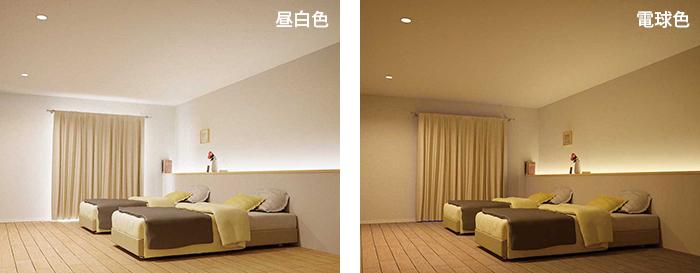 寝室の明かりの違いよる心の変化