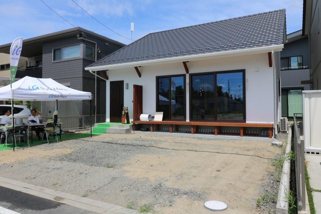 清須市新築住宅完成見学会会場の外観