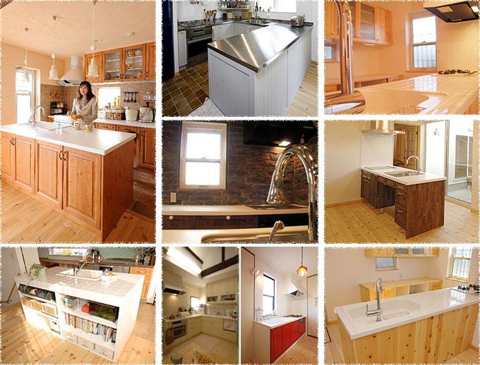 写真:オーダーキッチンの施工例