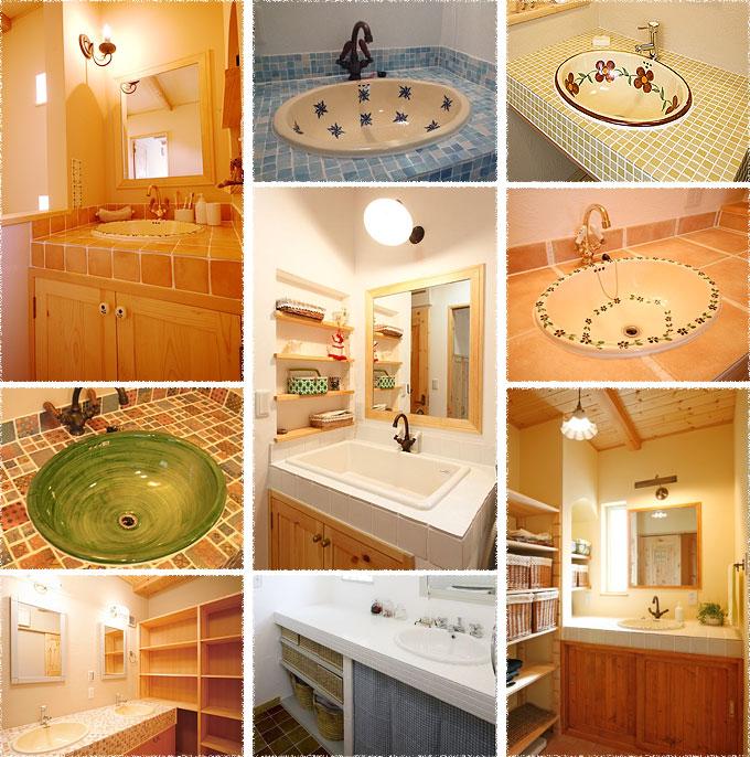 写真:洗面台(シンク&タイル)の施工例